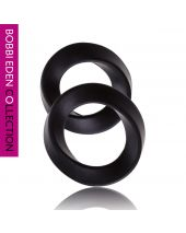 Bobbi Eden Rings of Eden Cockring set Zwart