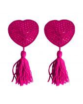 Ouch Nipple Tassels Heart roze